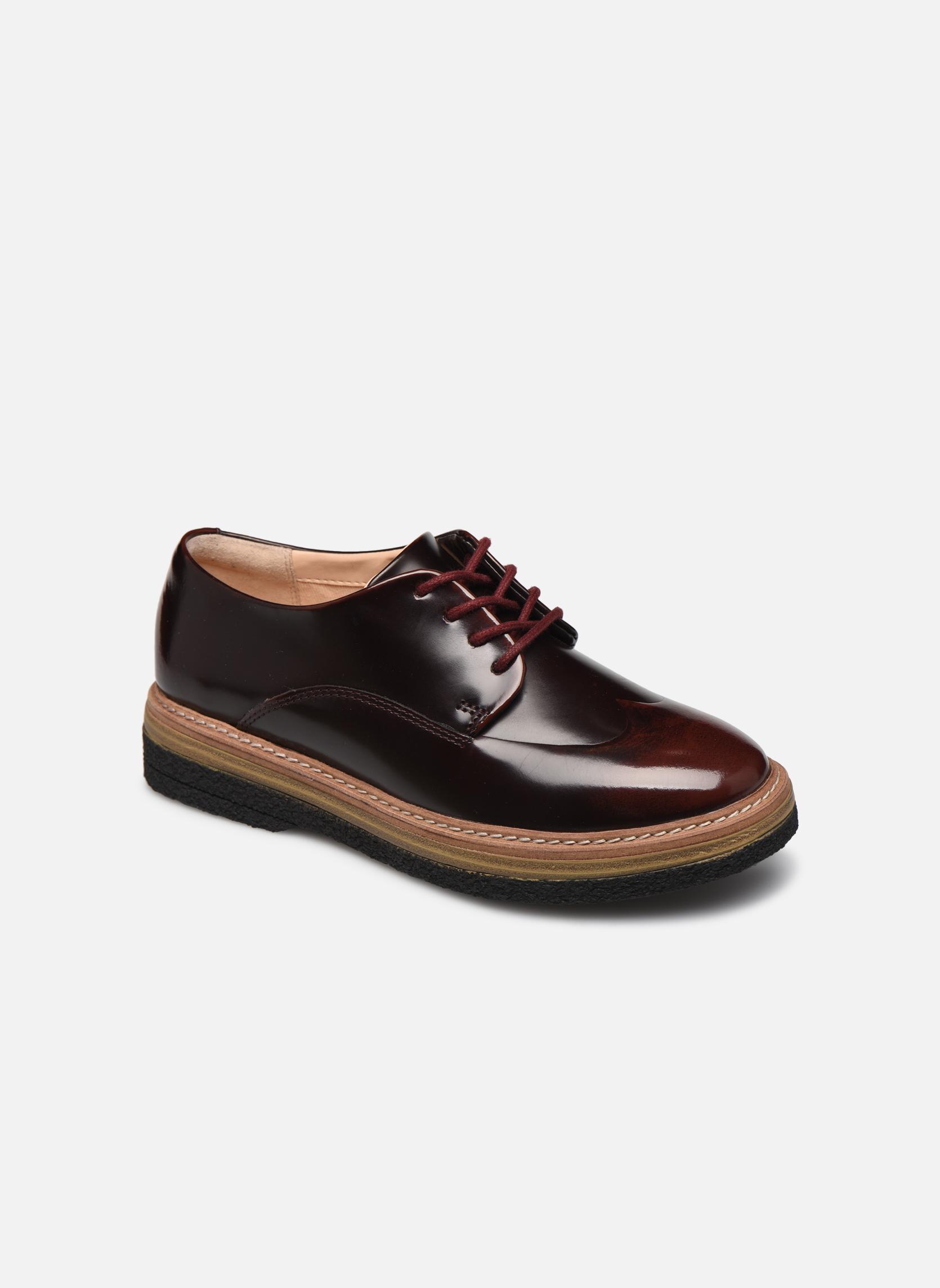 Chaussures à lacets Clarks Zante Zara Bordeaux vue détail/paire