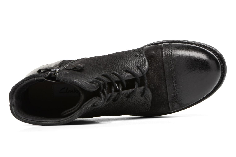 Bottines et boots Clarks Adelia Stone Noir vue gauche