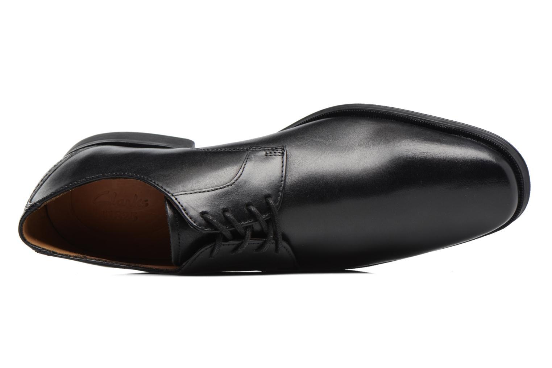 Chaussures à lacets Clarks Gilman Lace Noir vue gauche