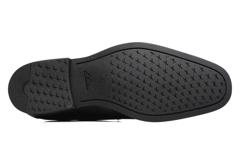 Chaussures à lacets Clarks Gilman Lace Noir vue haut
