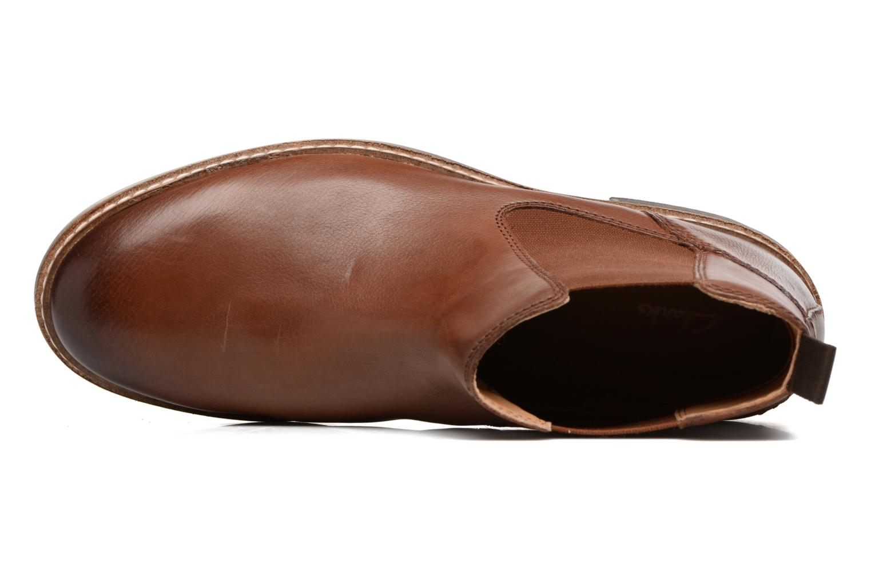 Bottines et boots Clarks Blackford Top Marron vue gauche