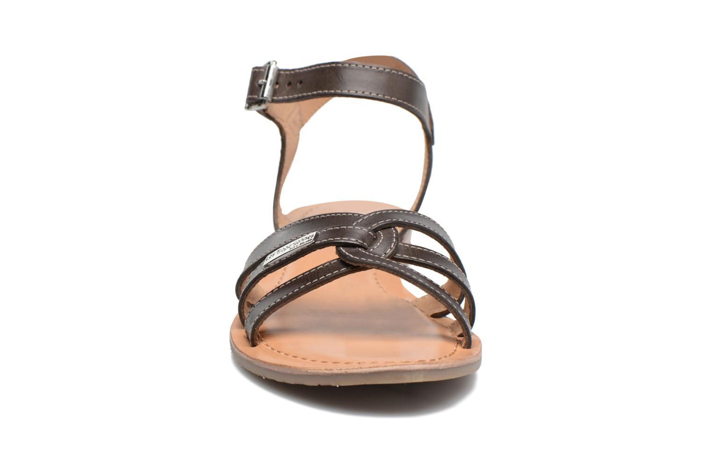 Sandales et nu-pieds Les Tropéziennes par M Belarbi Balisto Marron vue portées chaussures