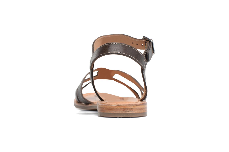 Sandales et nu-pieds Les Tropéziennes par M Belarbi Balisto Marron vue droite