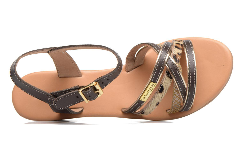 Sandales et nu-pieds Les Tropéziennes par M Belarbi Boreal Marron vue gauche