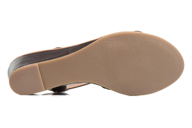 Sandales et nu-pieds Les Tropéziennes par M Belarbi Boreal Marron vue haut