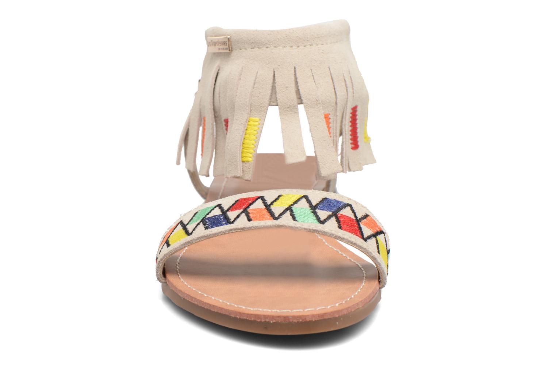 Sandales et nu-pieds Les Tropéziennes par M Belarbi Gaya Beige vue portées chaussures