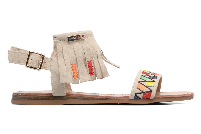 Sandales et nu-pieds Les Tropéziennes par M Belarbi Gaya Beige vue derrière