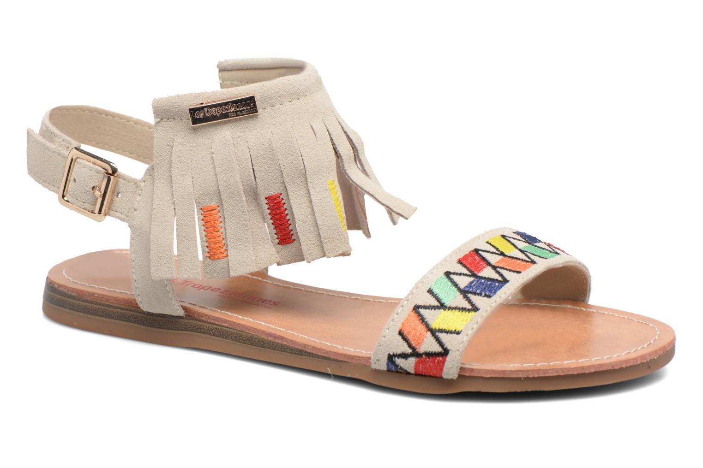 Sandales et nu-pieds Les Tropéziennes par M Belarbi Gaya Beige vue détail/paire