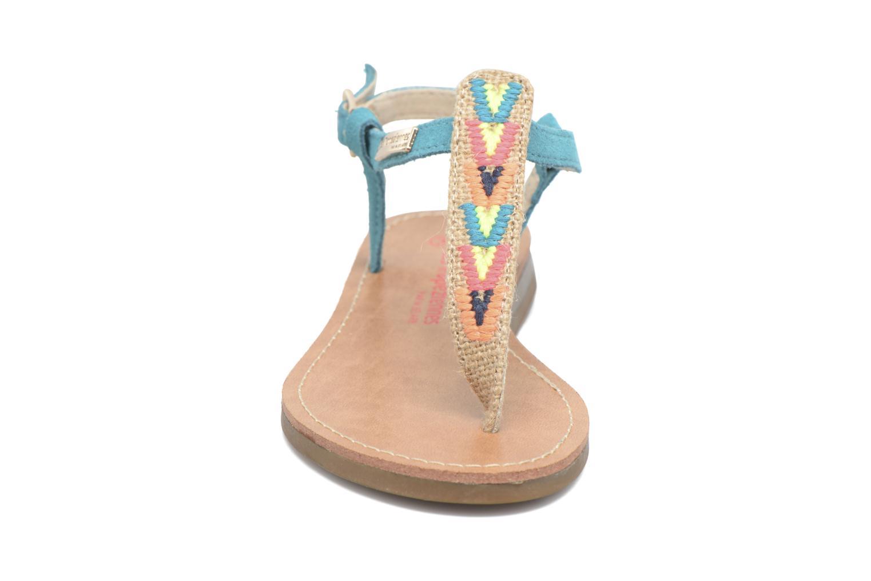 Sandales et nu-pieds Les Tropéziennes par M Belarbi Geronima Bleu vue portées chaussures