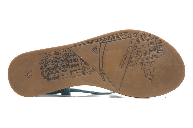 Sandales et nu-pieds Les Tropéziennes par M Belarbi Geronima Bleu vue haut