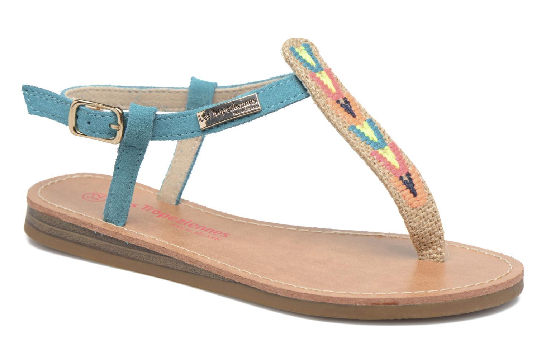 Sandales et nu-pieds Les Tropéziennes par M Belarbi Geronima Bleu vue détail/paire