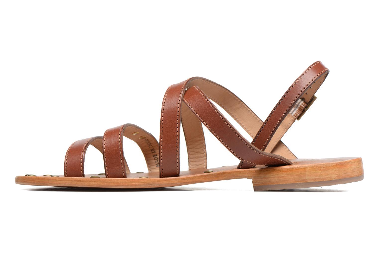 Sandales et nu-pieds Les Tropéziennes par M Belarbi Helios Marron vue face