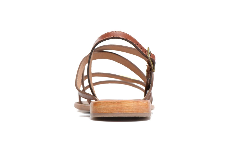 Sandales et nu-pieds Les Tropéziennes par M Belarbi Helios Marron vue droite