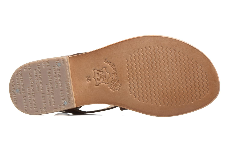 Sandales et nu-pieds Les Tropéziennes par M Belarbi Helios Marron vue haut