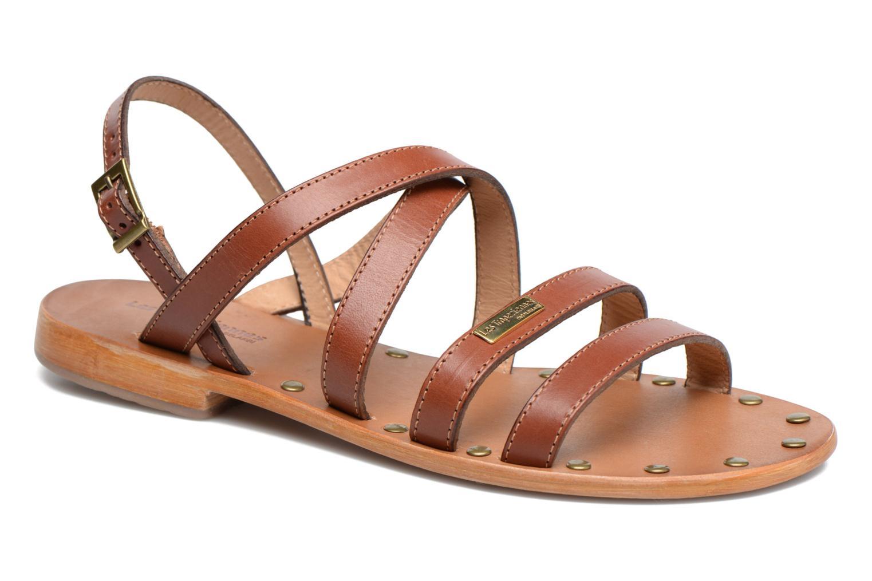 Sandales et nu-pieds Les Tropéziennes par M Belarbi Helios Marron vue détail/paire