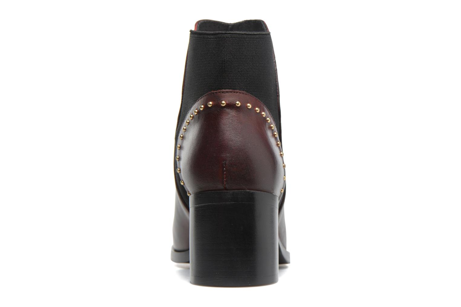 Ankle boots Georgia Rose Soulia Burgundy view from the right