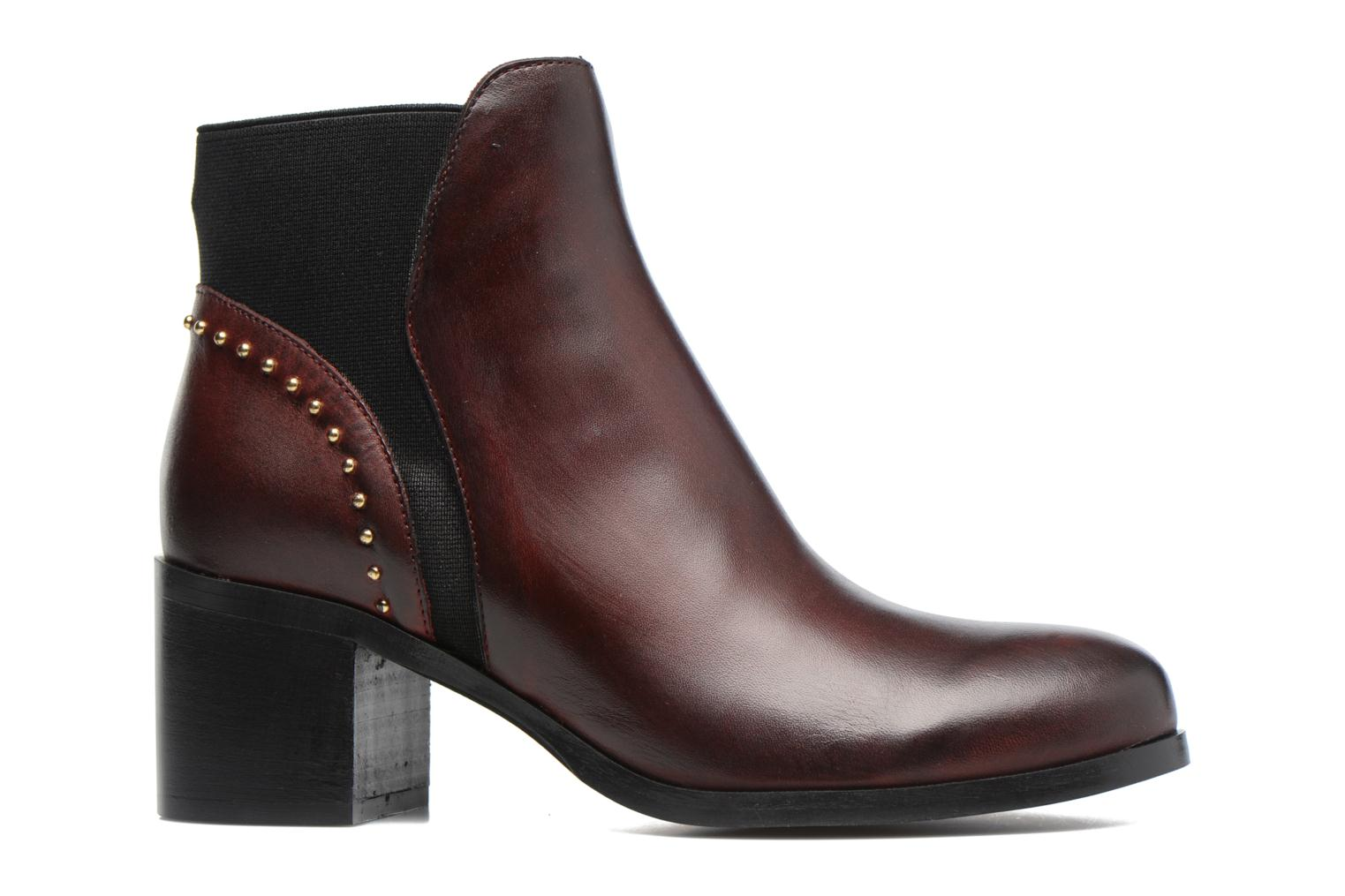 Ankle boots Georgia Rose Soulia Burgundy back view