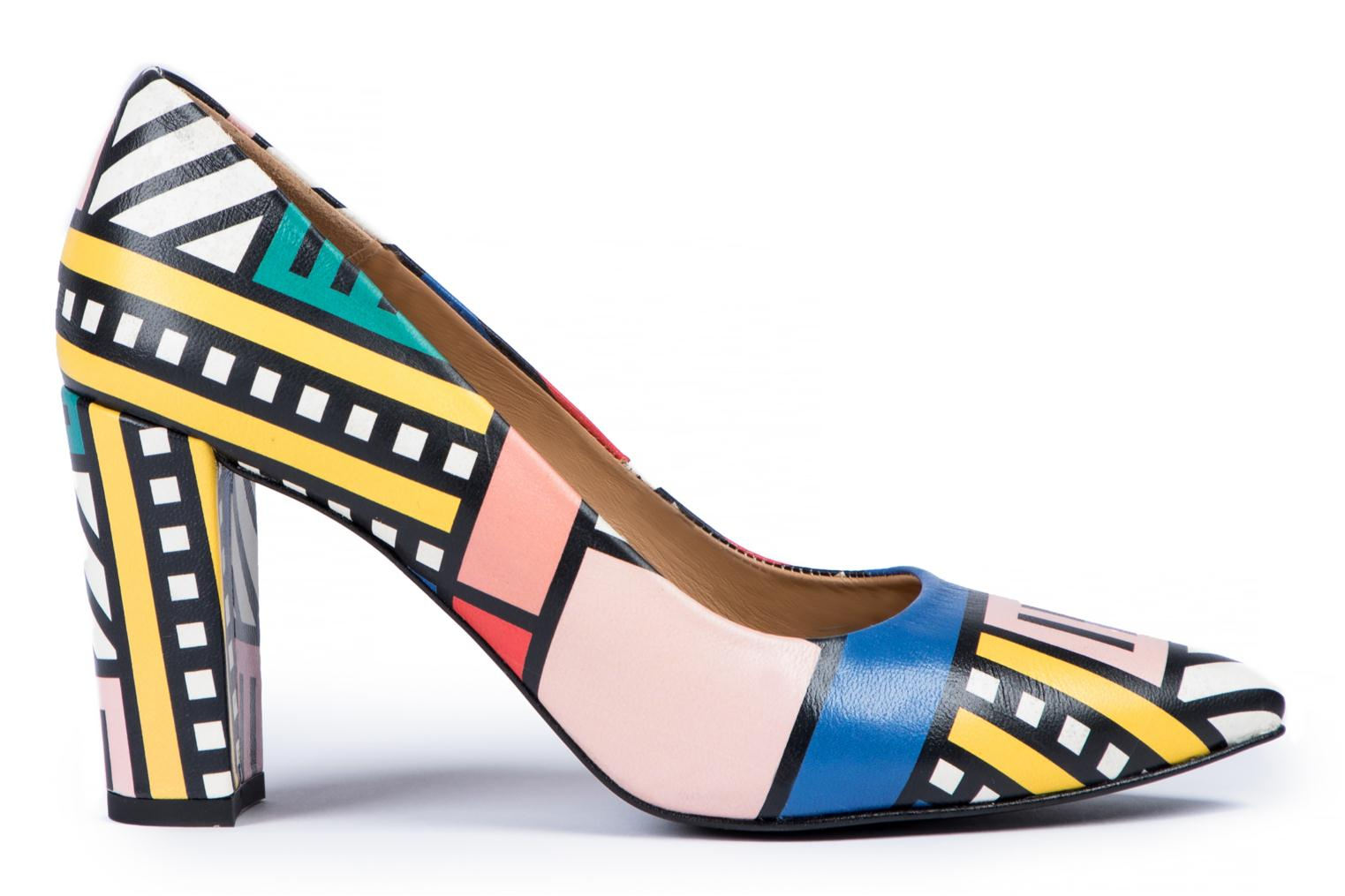 High heels Made by SARENZA Made by Sarenza X Camille Walala Pump Multicolor detailed view/ Pair view