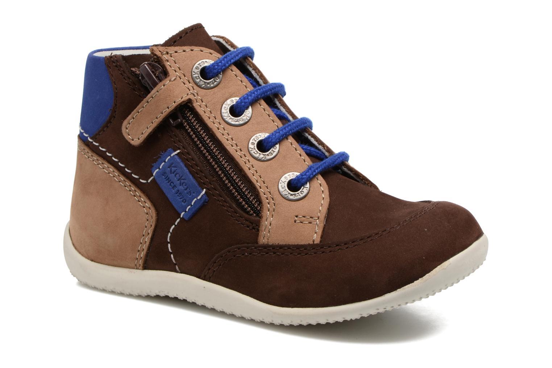 Bottines et boots Kickers Bartin Marron vue détail/paire