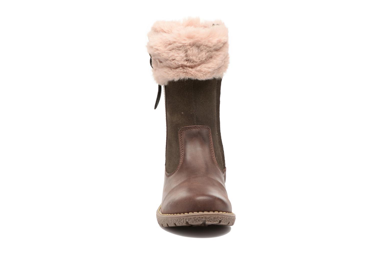 Bottes Kickers Uxana Marron vue portées chaussures