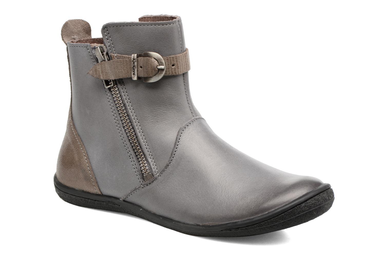Bottines et boots Kickers Cameron Gris vue détail/paire