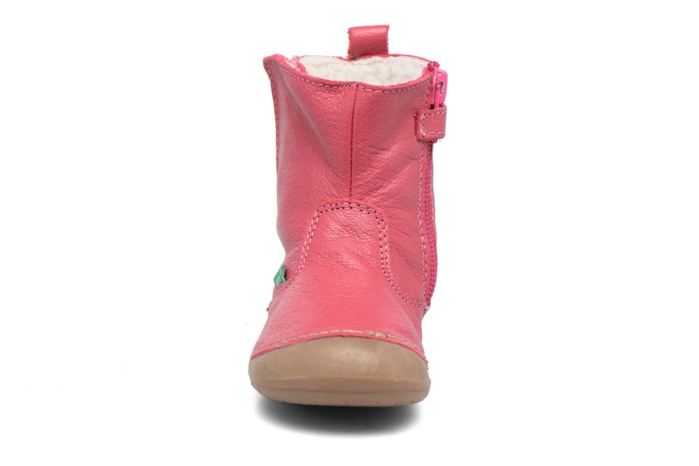 Bottes Kickers Socool Rose vue portées chaussures