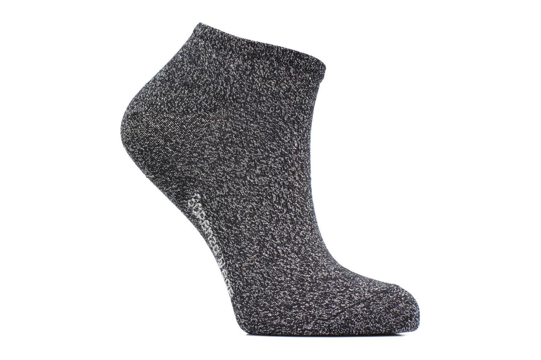 Chaussettes Invisibles lurex Femme Coton Noir Lurex