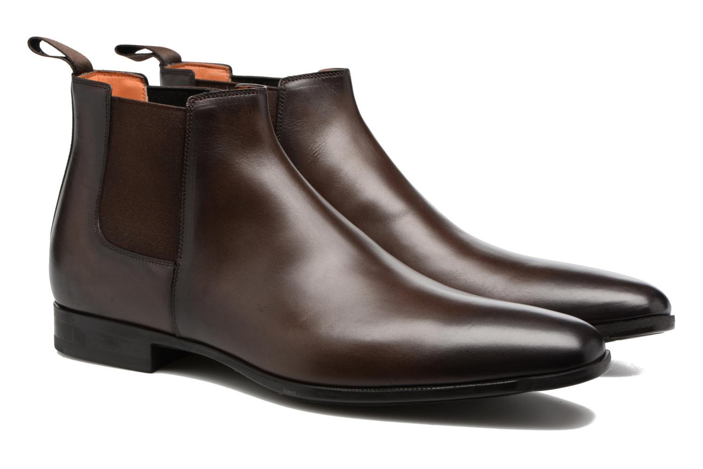 Bottines et boots Santoni William 15312 Marron vue 3/4