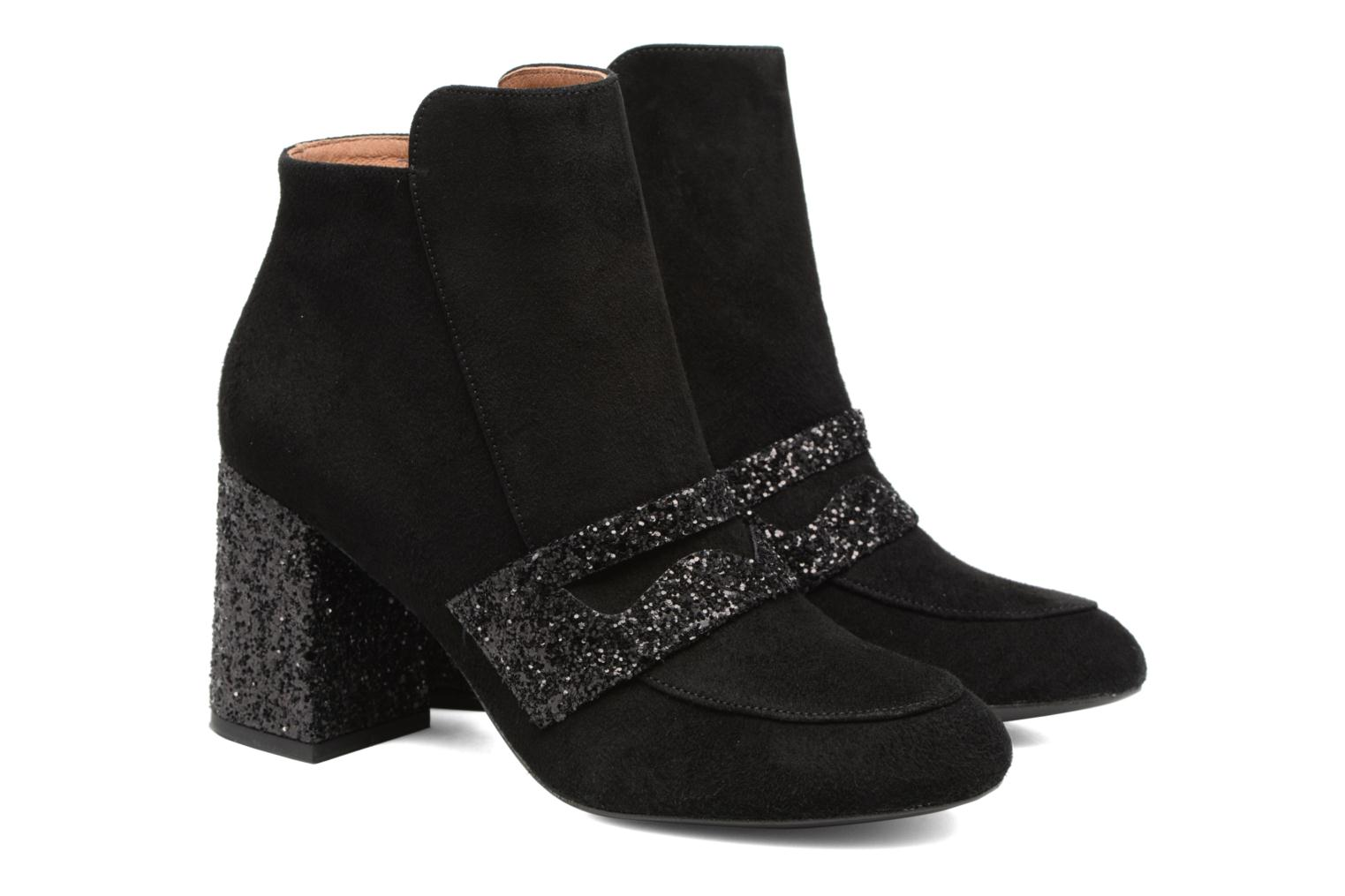 Winter Freak #2 Cuir Velours Noir + Glitter Noir