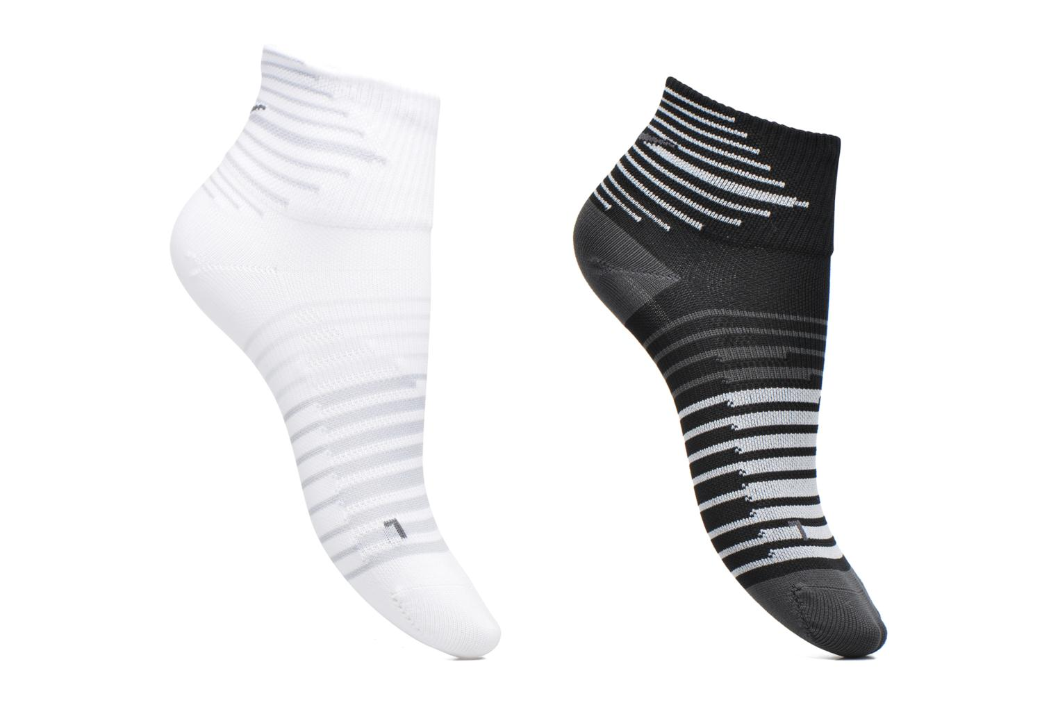 Nike Performance Lightweight Quarter Running Sock (2 Pair) MULTI-COLOR