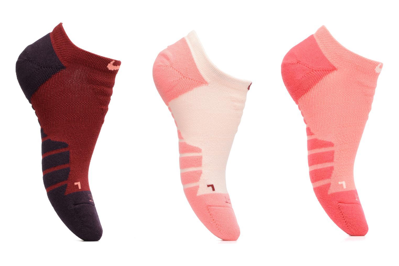 Chaussettes et collants Nike Women's Nike Dry Cushion No Show Training Sock (3 Pair) Rouge vue détail/paire