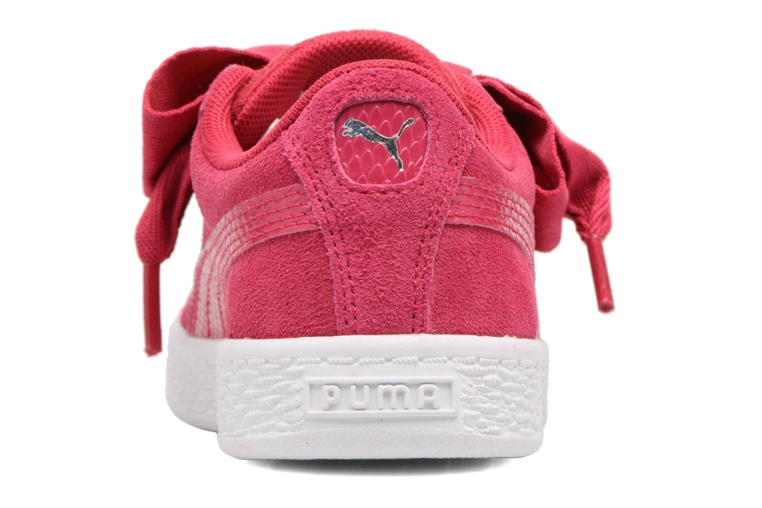 Baskets Puma Inf Basket Heart Glam/PS Basket Heart Glam Rose vue droite