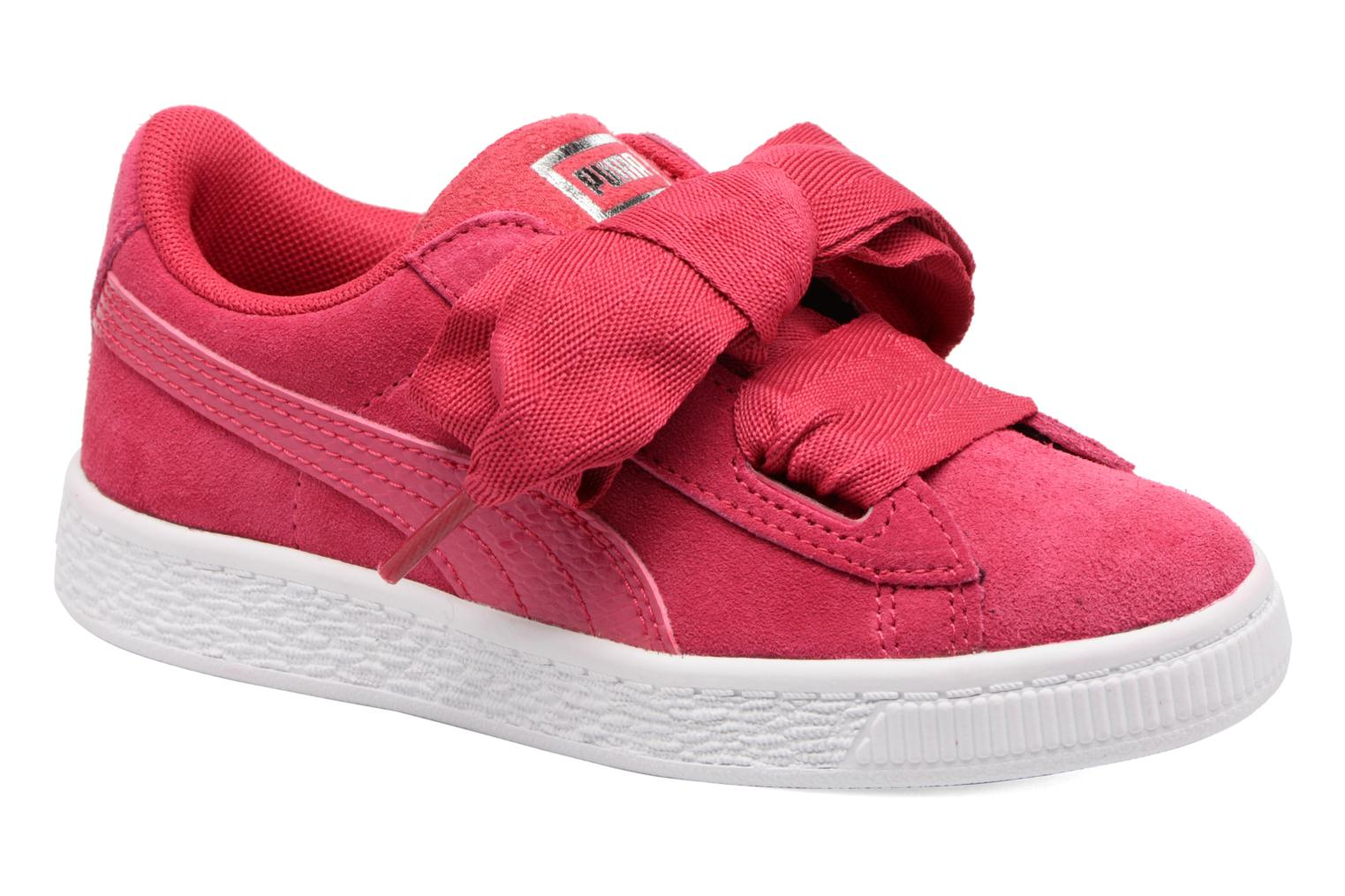Baskets Puma Inf Basket Heart Glam/PS Basket Heart Glam Rose vue détail/paire