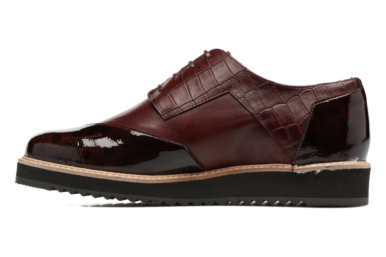 Chaussures à lacets HE Spring Lutin Bordeaux vue face