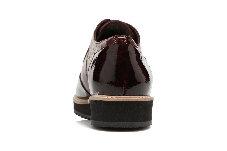 Chaussures à lacets HE Spring Lutin Bordeaux vue droite