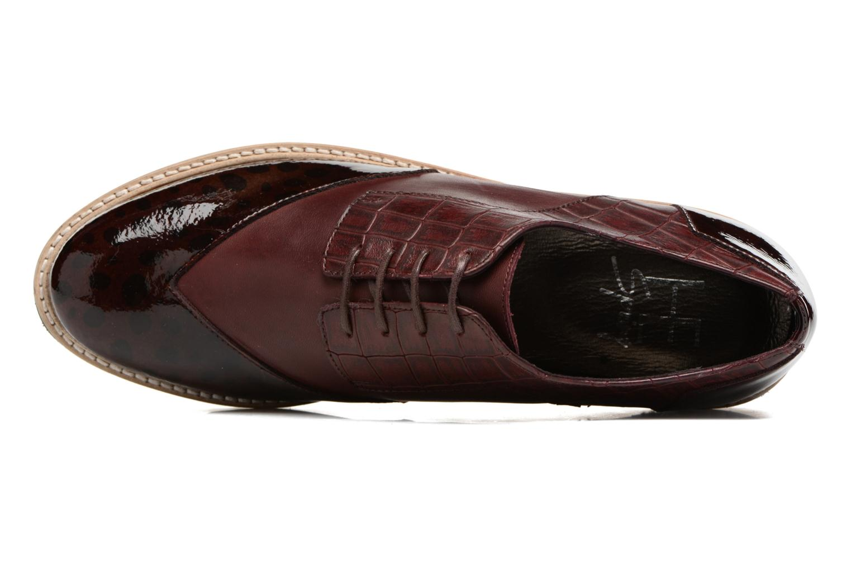 Chaussures à lacets HE Spring Lutin Bordeaux vue gauche