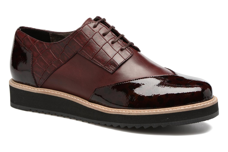 Chaussures à lacets HE Spring Lutin Bordeaux vue détail/paire