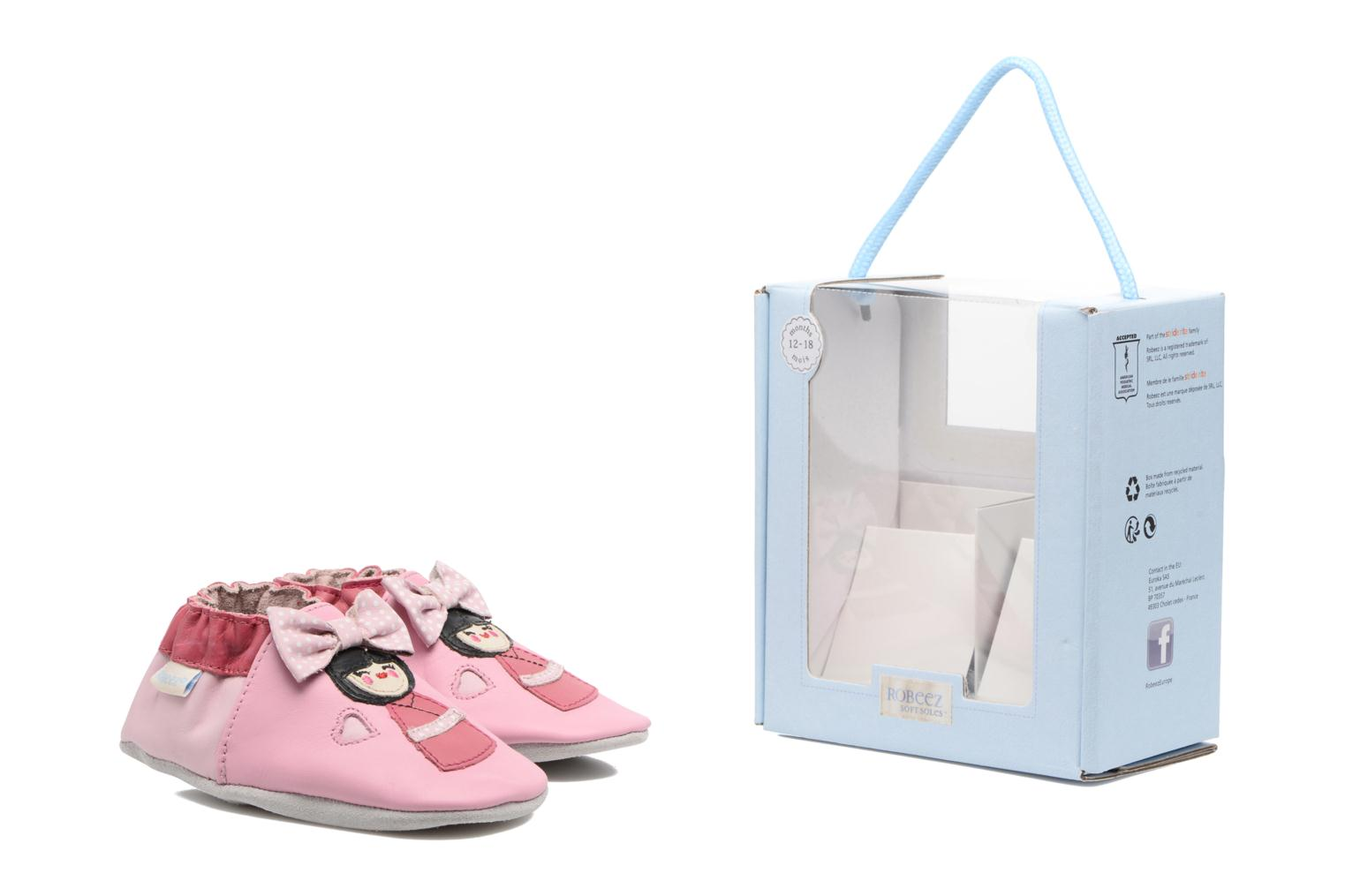 Chaussons Robeez Aoki Rose vue 3/4