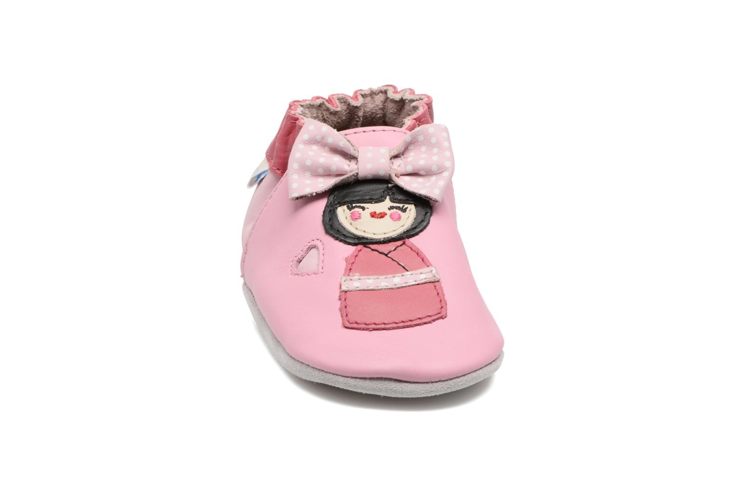 Chaussons Robeez Aoki Rose vue portées chaussures