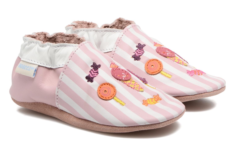 Chaussons Robeez Candy Shop Rose vue détail/paire