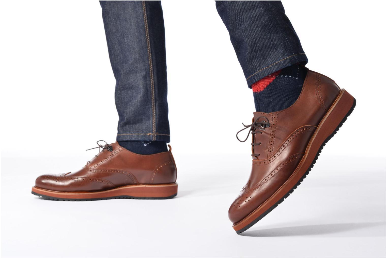 Chaussures à lacets Mr SARENZA Sulivan Noir vue bas / vue portée sac