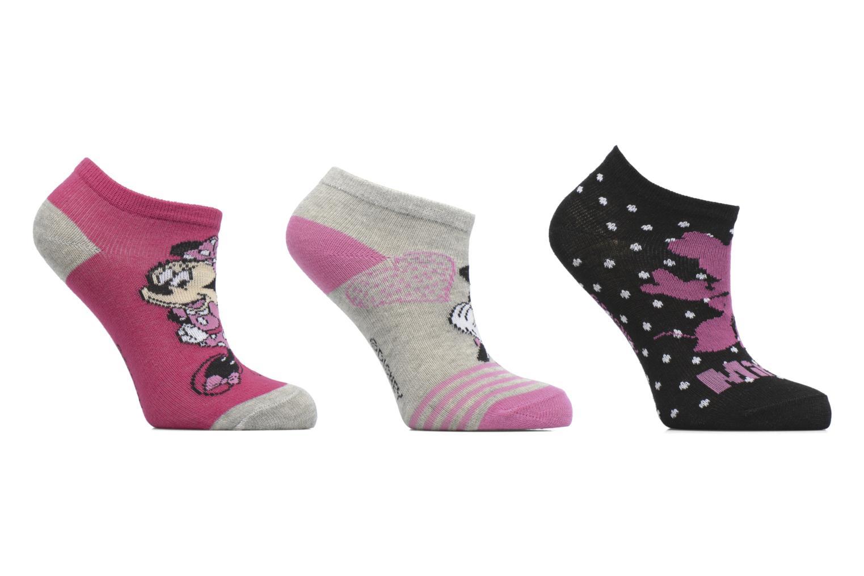 Chaussettes et collants Disney Chaussettes Basses Lot de 3 Minnie Noir vue détail/paire
