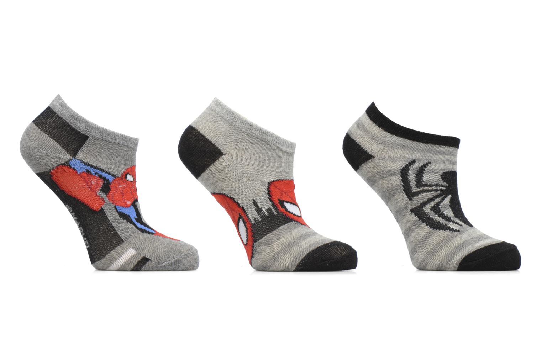 Chaussettes Basses Lot de 3 Spiderman Gris