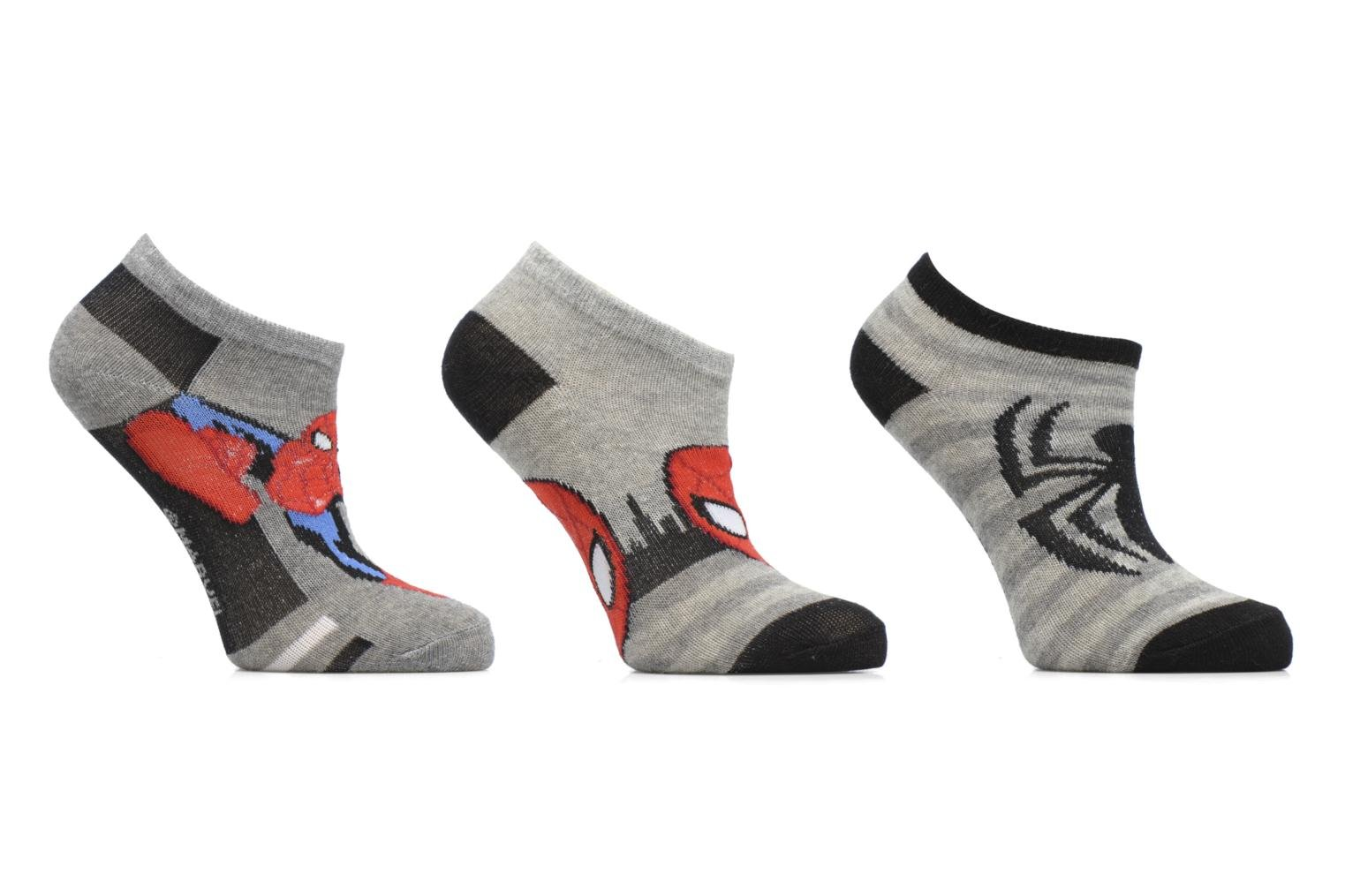 Sokken en panty's Disney Chaussettes Basses Lot de 3 Spiderman Grijs detail