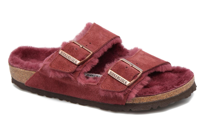 Grandes descuentos últimos zapatos Birkenstock Arizona Sheepskin (Vino) - Pantuflas Descuento