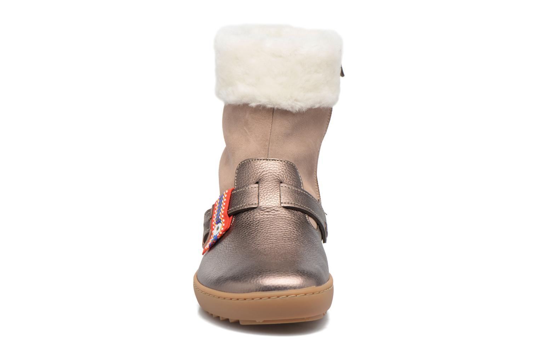Bottes Birkenstock Stirling Sheepskin Beige vue portées chaussures
