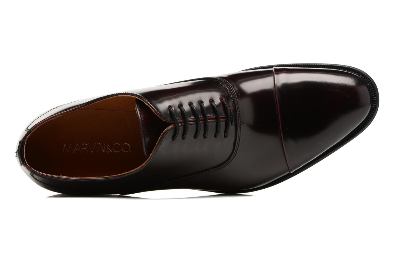Chaussures à lacets Marvin&Co Retford Bordeaux vue gauche