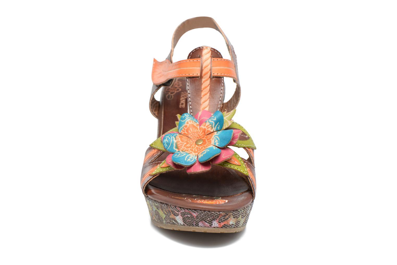 Sandales et nu-pieds Laura Vita Verge Orange vue portées chaussures