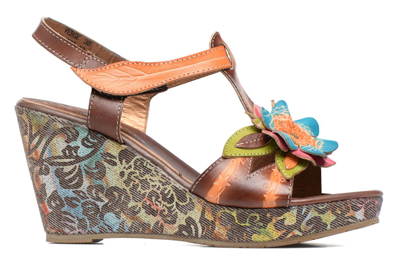 Sandales et nu-pieds Laura Vita Verge Orange vue derrière