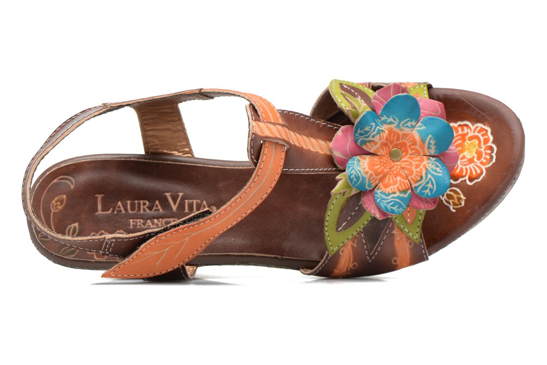 Sandales et nu-pieds Laura Vita Verge Orange vue gauche